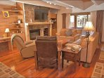 Hardwood Floors, Leather Furniture in the Living  Room