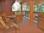 Gas Grill & Outdoor Fireplace on your covered Deck