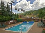 Yes, that is Gondola Square & the Ski Area Base right across the street from your Heated Pool!