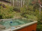 Private Hot Tub right outside on the lower deck.
