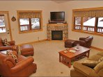 Fireplace, HDTV, DVD, Wraparound Deck with Gas Grill
