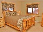 Bedroom 2 - Queen on Aspen Log Frame
