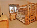Bedroom 3 - Full over Queen on Aspen Log Frame