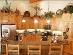 Large, Upscale Kitchen, Completely Equipped & Finished with Style.