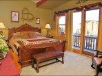 Master Bedroom - King, Balcony, Custom Cedar Walk In Closet