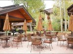 Picnic Area with Gas Grills and Outdoor Fireplace