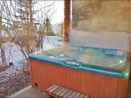 Large Private Hot Tub on Back Patio