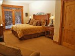 Spacious Master Bedroom - King, Lounge Chair, HDTV