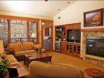 Gas Fireplace, HDTV, DVD, Stereo, & Deck