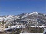 Great View of Upper Ski Slopes
