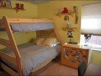 Bedroom 3 - Twin over Full bunk bed, desk