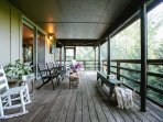 screened porch area