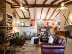 Living Room w/ gas log fireplace