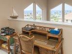Desk overlooking the ocean