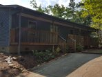 Ranch Style cabin means no stairs to climb! ample parking for 3 cars or more!