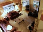 Aerial view of living room