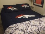 Smaller bedroom:  If the Bronco comforter is a bit much we have others!