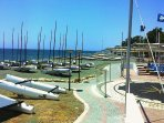 In front of the apartment Limassol Sailing Center