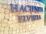 Hacienda Elviria Main Road Sign