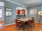 Dining room space w/accent lamp