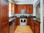 Gourmet kitchen with everything you need to make yourself at home.