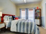 Guest room with WESTELM furnishing and bedding