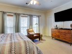 Master room with 70in LCD HD SMART TV