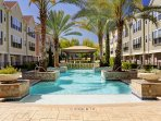 Resort Style Pool with cabana and bbq grill