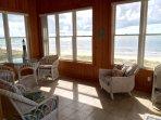 All wood sun room