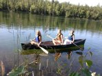 Canoe, fish, play on lake - fun for all ages