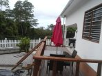 Two bedroom house with extended decking