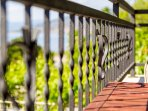Decorative, butterfly railing motif