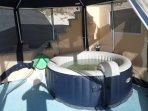hot tub near pool