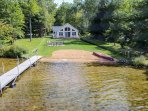 Sunset Shores Lk House-Lakefront Pvt Beach/Dock-South Haven/Saugatuck*BOOK 2019