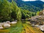 Río Flamisell a 1,5 km de la casa