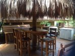Great palapa below for shade and grilling