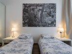 Chambre N°2 avec 2 lits de 90 cm