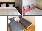 Grandes chambres avec Literies neuves