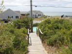 Boardwalk to the beach right out our front entry