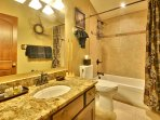 Full Bath with Granite Counter Tops