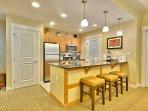 Granite Counter Top and Comfortable Bar Stools
