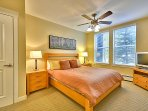 Master Bedroom with King Size Mattress and Flat Screen TV