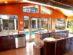 From the kitchen see the kids in the pool, and the ocean! New LG SteamDishwasher