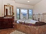 Master Bedroom Jacuzzi Tub with a view