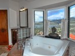 Master Bedroom Jacuzzi Tub with View