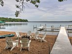 Spend your time at the lake out back, hanging out by the beautiful water and fishing from the dock.