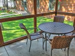 Look forward to sipping your morning coffee on the private front porch while admiring the beautiful nature views.