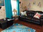 Living aria has new comfy recliner sofa for your rest, sleeping sofa, 43' TV