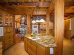 Large chef's kitchen: