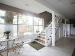 Enter Bijou from a beautiful foyer and oak staircase.